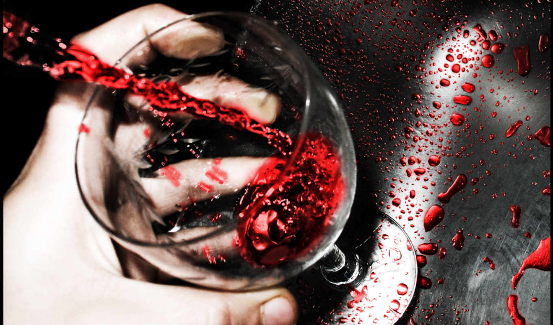 стакан, вино