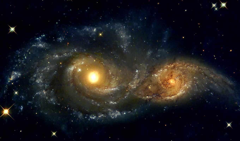 galaxies, ngc, spiral, image, two, космос, cosmology, nasa, galaxy,