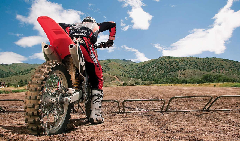 мотоцикл, гонки, трасса, мотокросс, заезд, колесо, холмы, moto, cross,