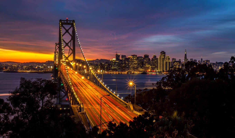 золотистый, мост, gate, california, francisco, san,