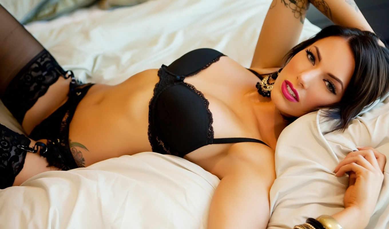 devushki, девушка, татуировка, erotica, девушек, черное белье,