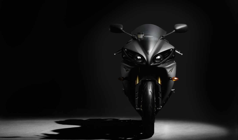 yamaha, спортбайк, мотоциклы, yzf, shadow, black,