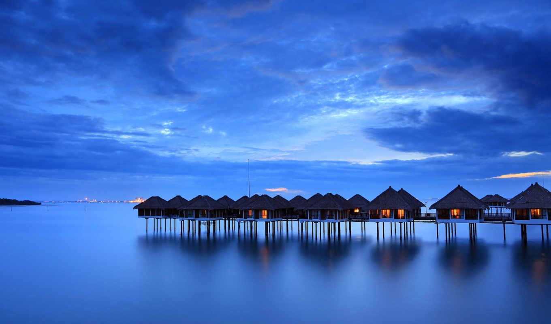 malaysia, спокойствие, вечер, море, берег, пляж, небо,