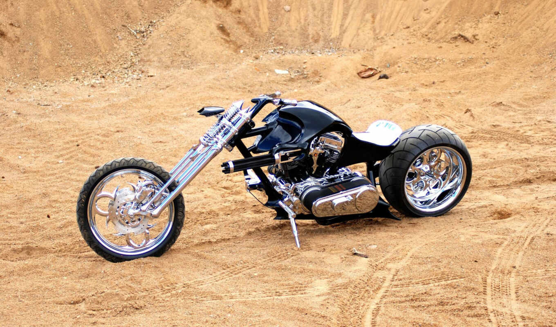 chopper, krutoi, чёрный, мотоцикл, тюнинг, машина, колесо, руль, paul, custom, avto