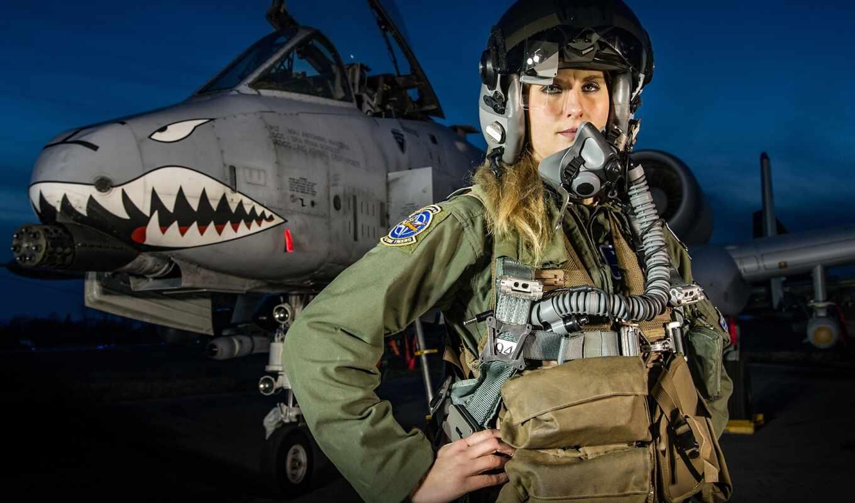 истребитель, пилот, штурмовик, warthog, женский, кабина, девушка, реактивный, usaf, thunderbolt