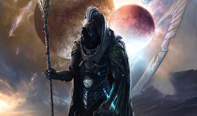 кольца, musin, костюм, sergey, планеты, человек, арт, посох, картинка,