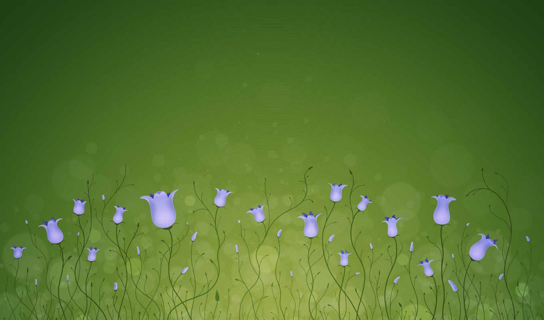 flowers, цветы, сердце, колокольчики, фиолетовый, линии, круги,