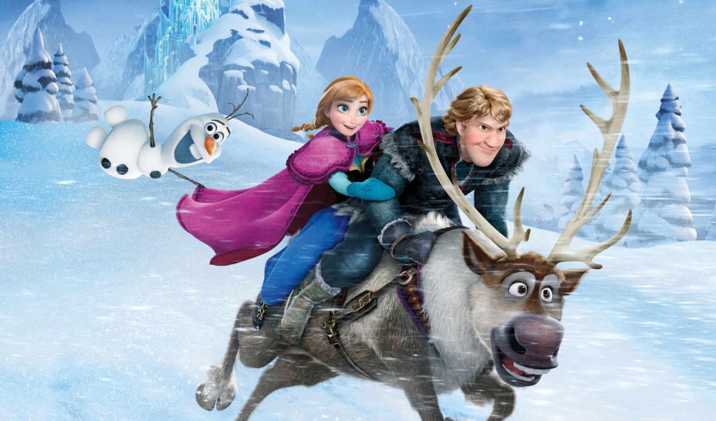 холодное, сердце, frozen, cartoon, christophe, disney, мультфильма,