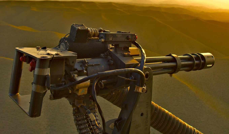 оружие, пулемет, minigun, вертолет,