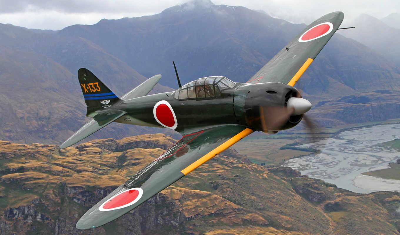 mitsubishi, zero, airplanes, japanese, free,