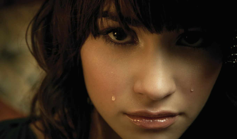 девушка, плачущий, demi, lovato, brunette, смотреть,
