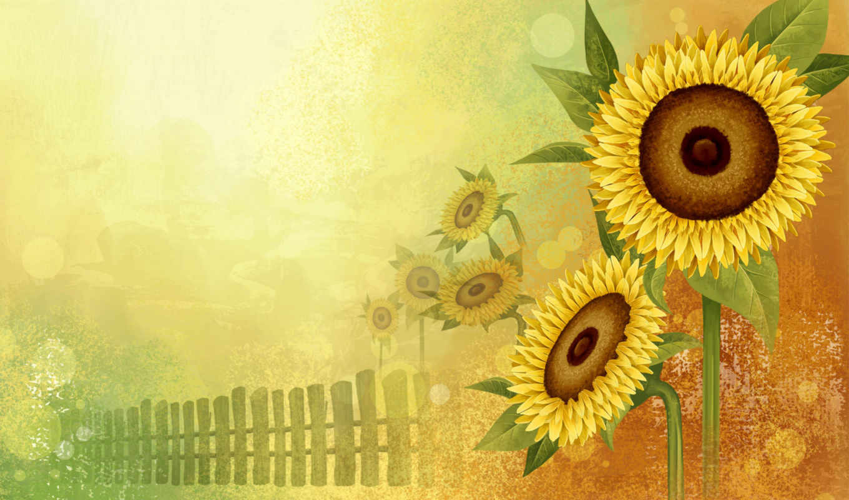 flowers, abstract, sunflower, funny, animals, yellow, orange, sunflowers, www, cart, подсолнухи, art, piicss, просмотров,