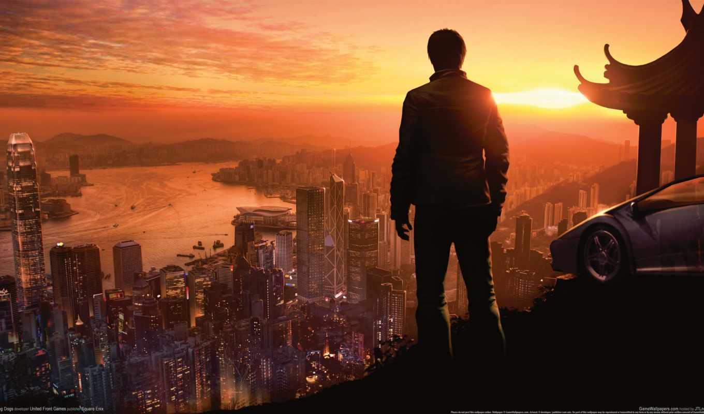 мужчина, город, hong, sleeping, dogs, kong, crime, true, вечер,