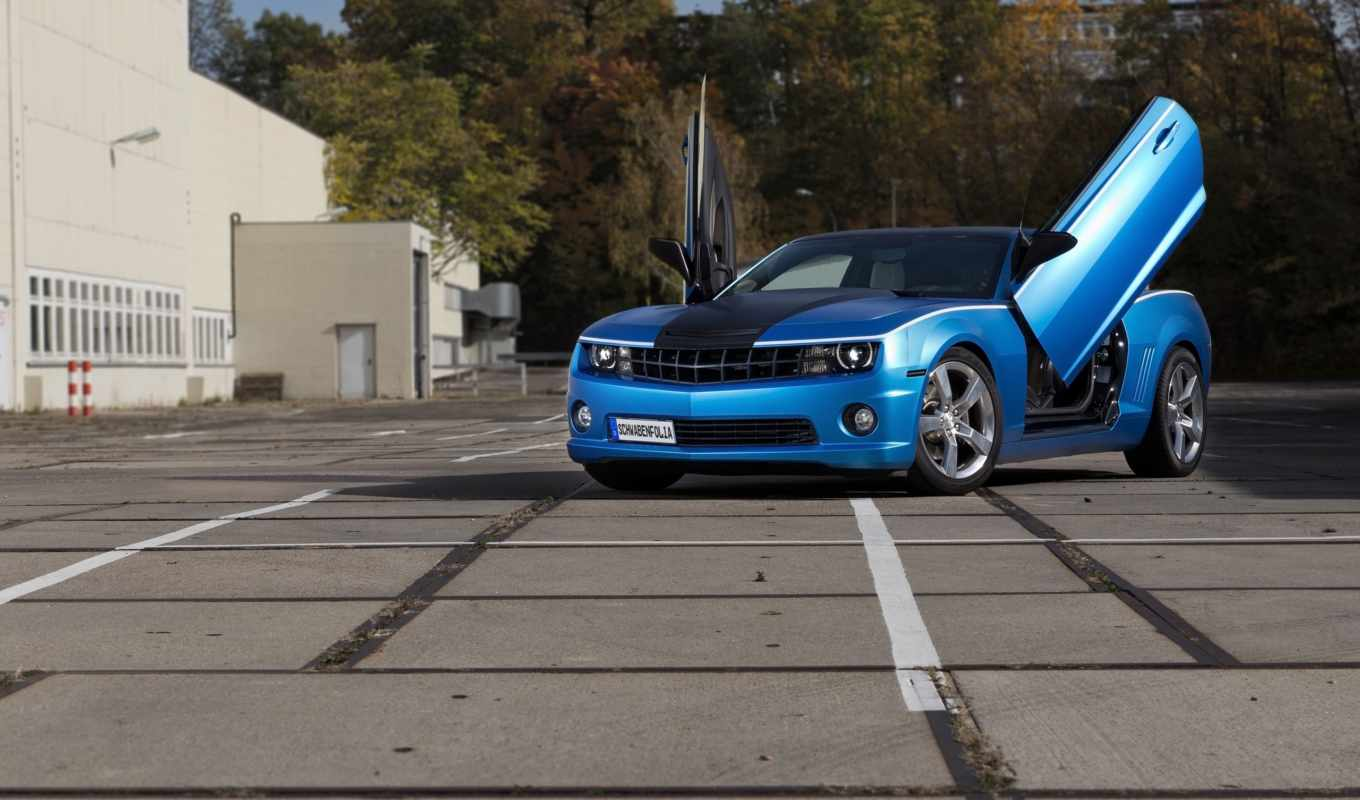 camaro, chevrolet, blue, камаро, тюнинг, schwabenfolia,