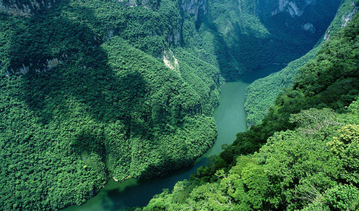 sumidero, mexico, del, windows, river, nature, canon, canyon, desktop, rating, votes, tags, горы,