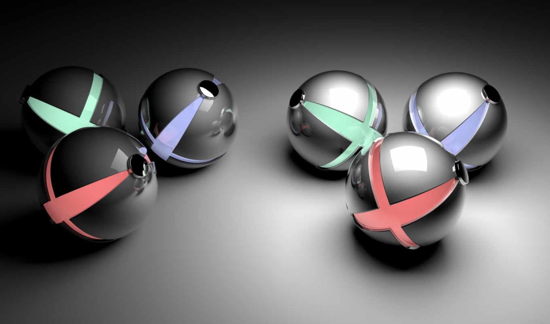 шары, сферы, widescreen, смотрите, spheres,