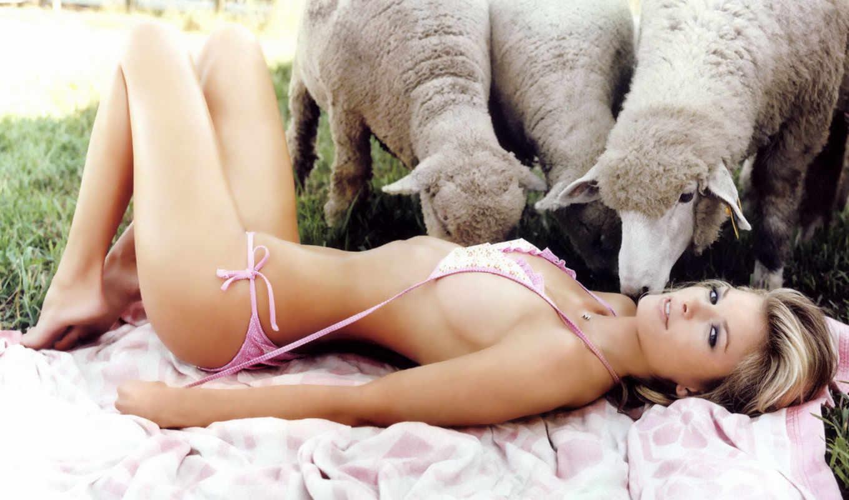 blonde, kreedz, супер, девушка, прикол, лежит, голая, devushki, бикини, овцы,