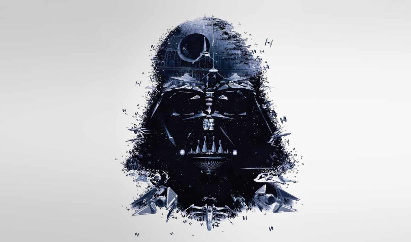 darth, vader, cosmic, ships, star, wars, войны,