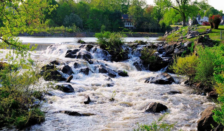 река, ручей, гора, wood, you, trees, rocks, water, природа,