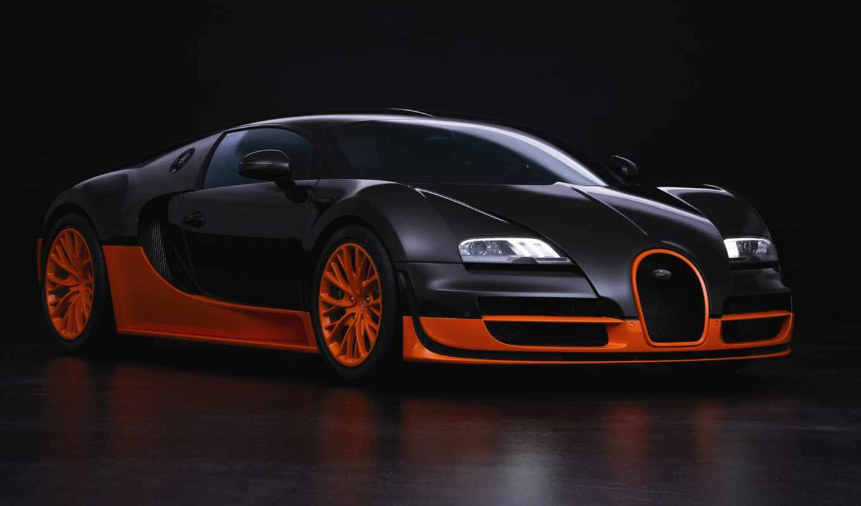 bugatti, veyron, super, car, sport, sports,
