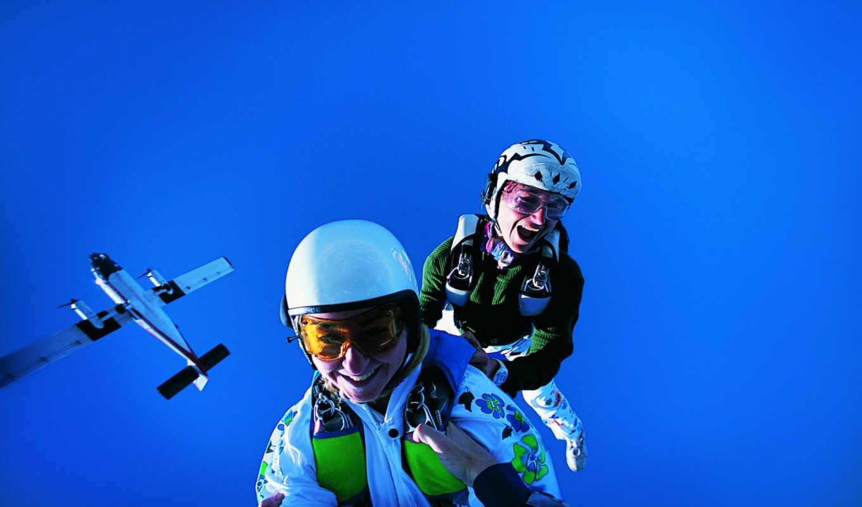 парашют,небо,прыжок,