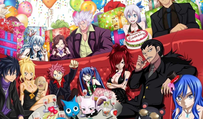 рождения, fei, tail, фея, днем, день, anime, меня, birthday,
