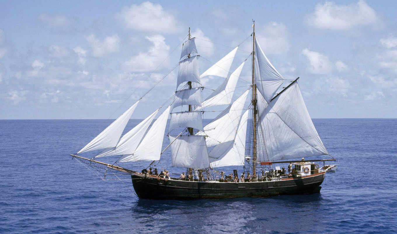 ship, water, vfl, normal, sail, boat, link, парусники, море,