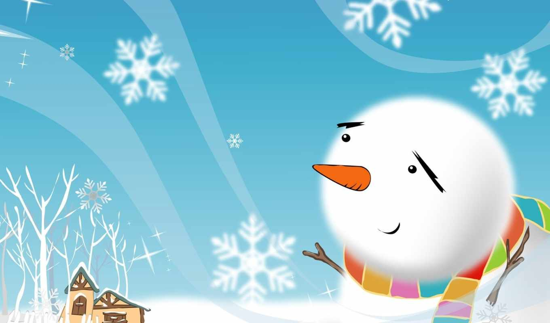 снеговик, зима, праздник, рисунок, arctic,арктику,рисунки, новый, снежинки, illustraion, vely, christmas,