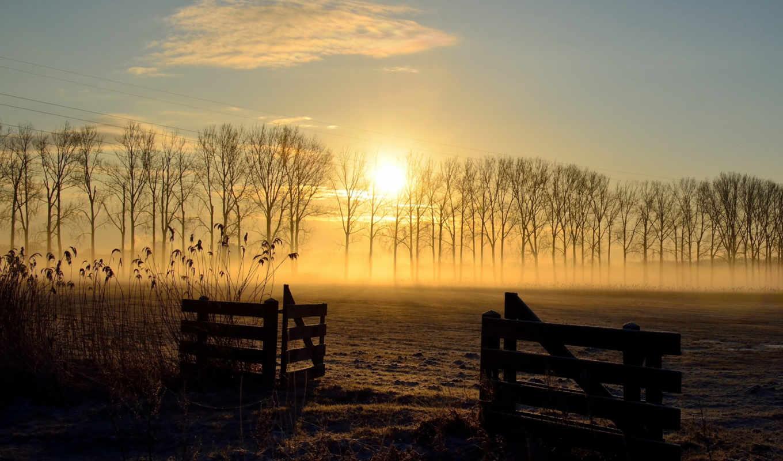 закат, поле, landscape, забор, contact, зарегистрируйтесь, природа, войдите,