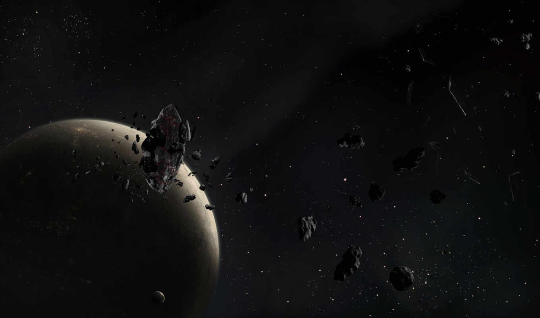 космос, desktop, фон, mobile, кб, asteroids, scene,
