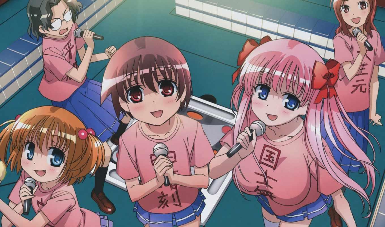 anime, saki, девочки, haramura, песню, nodoka, miyanaga, волосы, изображение,