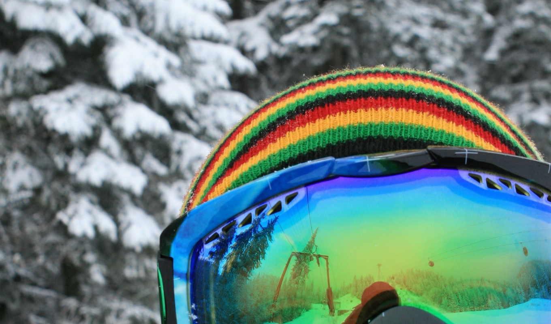обои, сноуборд, очки, снег, зима, спорт, шапка, ст