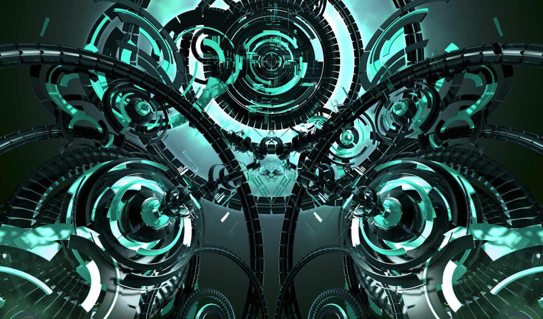 абстракция, механизм, abstract, floomby,