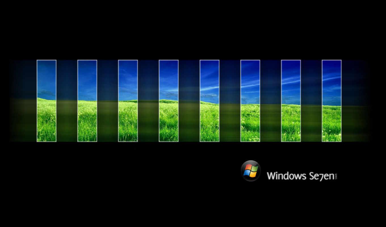 windows, природа, free, desktop, dual, картинка, cool, прямоугольники, фоне, черном, monitor, you, размером, seven, точек,
