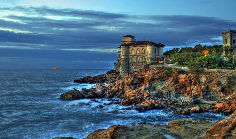 boccale, пейзажи -, побережье, castle, landscape, livorno, города, italian, замки, скалы, aрхитектура,