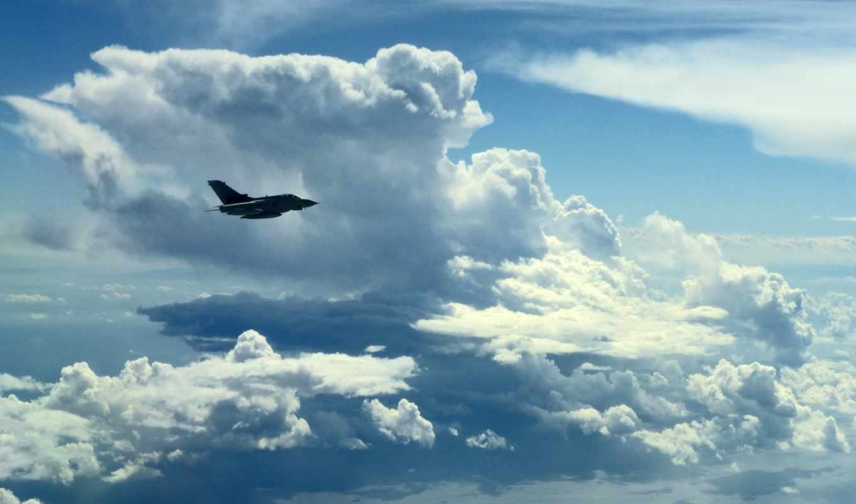 облака, небо, самолёт, минимализм, topнадо,