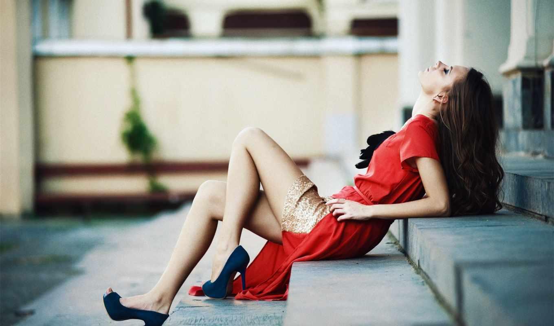 платье, туфли, платью, красное, платья, красному, wear, color, под,