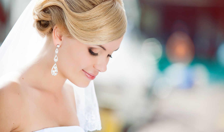 макияж, свадебный, глаз, макияжа, невеста, голубых,