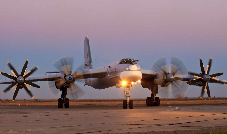 бомбардировщик,   ТУ-95, стратегический, ракетоносец, россии, самолёт, ввс,