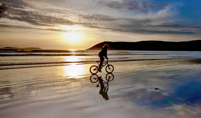 bmx, пляж, закат, июнь, россии,