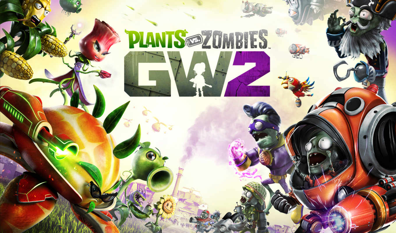 zombies, plants, warfare, garden, fondos, pantalla, descargar,