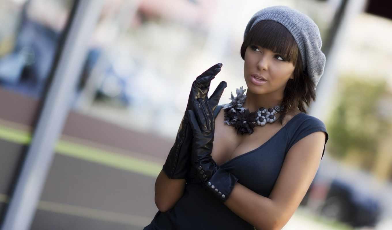 devushki, www, самые, https, черных, перчатках, берете, девушка, красивые,