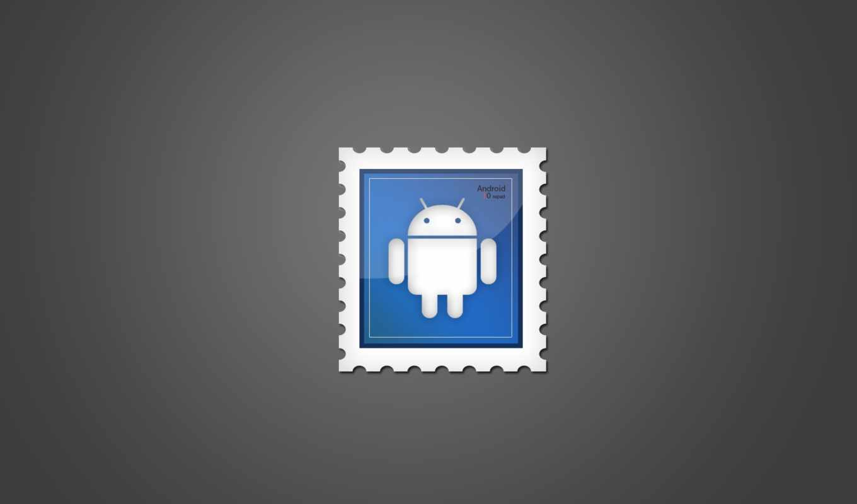 android, stamp, frame, logo