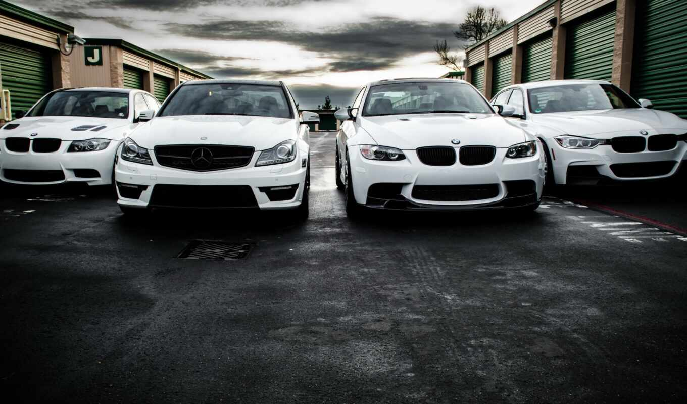 amg, mercedes, bmw, white,