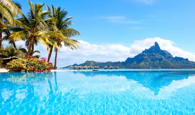 пляж, рай, море, resort, аль, am,