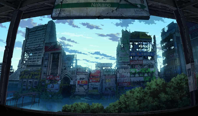 tokio, после, tokyo, world, anime, genso, людей, станция, постапокалиптич, известные, tokyogenso,