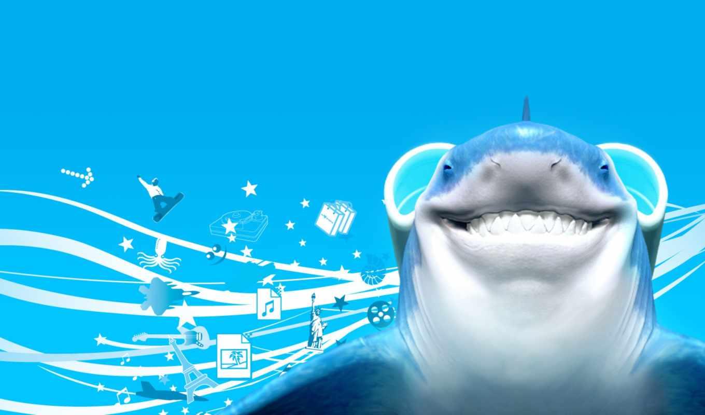 акула, free, компьютер, desktop, pictures,