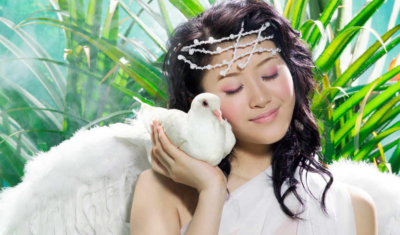 девушка, голубь, лицо, devushki, quotes, птицы, голуби,