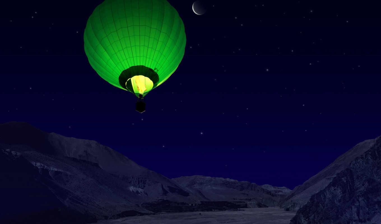 обои, воздушный, шар, различных, красивые, воздушн