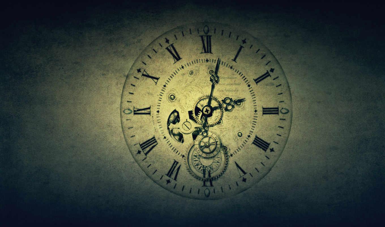 часы, еще, старинные, идут, механизм, стиль, часовая, стрелка, время, текстура, картинка,